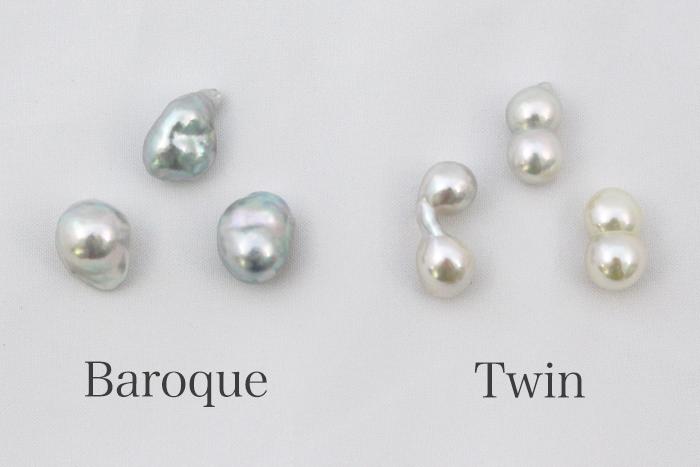 バロック真珠とツイン